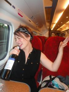 PG on train