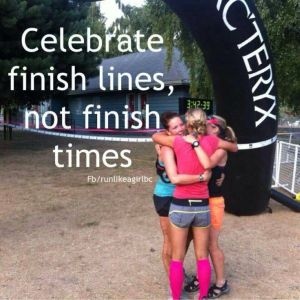 finish line not finish times